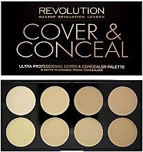 Parfüm, Parfüméria, kozmetikum Korrektor arcra - Makeup Revolution Ultra Cover and Conceal Palette