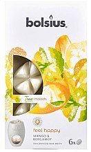 """Parfüm, Parfüméria, kozmetikum Illatosított viasz """"Mango és bergamot"""" - Bolsius True Moods Feel Happy Mango & Bergamot"""
