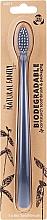 Parfüm, Parfüméria, kozmetikum Biológiai úton lebomló fogkefe, szürke - The Natural Family Co Biodegradable Toothbrush