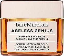 Parfüm, Parfüméria, kozmetikum Feszesítő és simító szemkrém - Bare Escentuals Bare Minerals Ageless Genius Firming & Wrinkle Smoothing Eye Cream