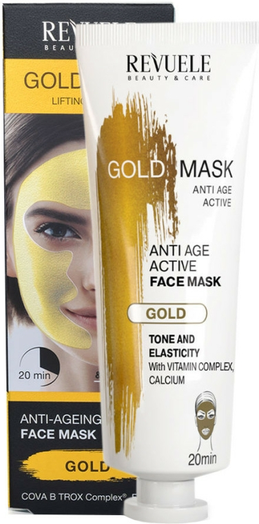Anti-age aktiv-maszk arcra - Revuele Anti-Age Gold Lifting Effect Mask