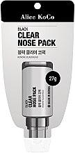 Parfüm, Parfüméria, kozmetikum Fekete arcmaszk - Alice Koco Black Clear Nose Pack