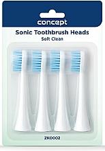 Parfüm, Parfüméria, kozmetikum Elektromos fogkefe pótfej, ZK0002 - Concept Sonic Toothbrush Heads Soft Clean