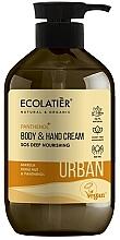 """Parfüm, Parfüméria, kozmetikum Kéz- és testkrém """"SOS Mély táplálás"""" - Ecolatier Urban Nourishing Body & Hand Cream"""