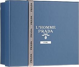 Parfüm, Parfüméria, kozmetikum Prada L'Homme Prada L'Eau - Szett (edt/100ml +edt/10ml + sh/gel/100ml)