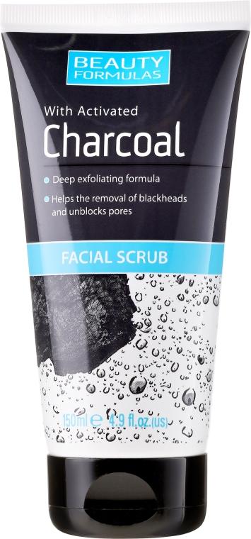 Mélytisztító bőrradír - Beauty Formulas Charcoal Facial Scrub
