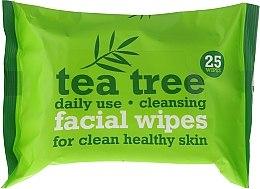 Parfüm, Parfüméria, kozmetikum Arctisztító kendő 25 db - Xpel Marketing Ltd Tea Tree Facial Wipes For Clean Healthy Skin