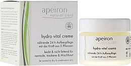 """Parfüm, Parfüméria, kozmetikum Arckrém """"Táplálás és regeneráció 24h"""" - Apeiron Hydro Vital 24h Nourishing&Regenerating Cream"""