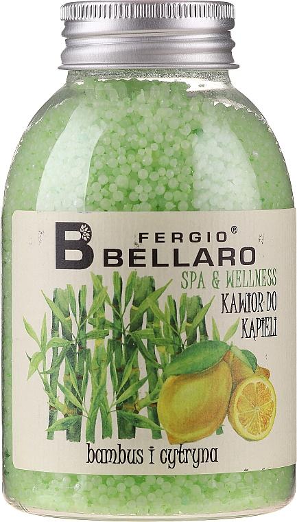 """Bőrpuhító fürdőgolyó """"Bambusz és citrom"""" - Fergio Bellaro Bamboo and Lemon Bath Caviar"""