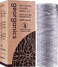 Parfüm, Parfüméria, kozmetikum Fogköztisztító selyem, 2x50 m - Georganics Natural Charcoal Dental Floss (utántöltő)