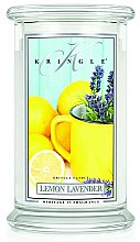 Parfüm, Parfüméria, kozmetikum Illatgyertya üvegben - Kringle Candle Lemon Lavender