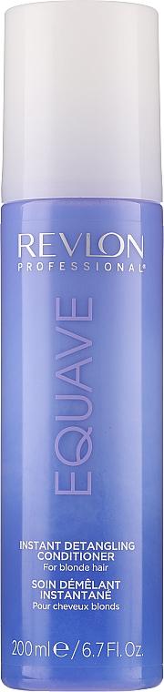 Keratinos kondicionáló szőkített hajra - Revlon Professional Equave 2 Phase Blonde Detangling Conditioner — fotó N1