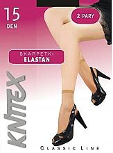 """Parfüm, Parfüméria, kozmetikum Női zokni """"Elastan"""" 15 Den, 2 pár, Nero - Knittex"""