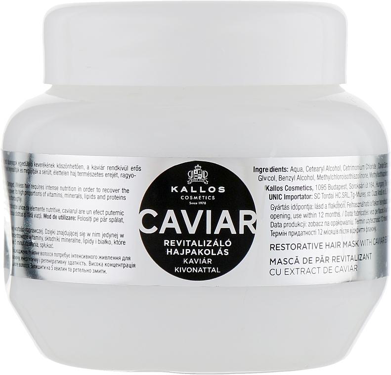 Revitalizáló hajpakolás kaviár kivonattal - Kallos Cosmetics Anti-Age Hair Mask