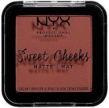 Parfüm, Parfüméria, kozmetikum Mattító arcpirosító - NYX Professional Makeup Sweet Cheeks Matte Blush