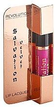 Parfüm, Parfüméria, kozmetikum Hosszan tartó rúzs és ajakfény 2 az 1-ben - Makeup Revolution Salvation Velvet Lip Lacquer
