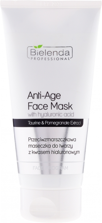 Ránctalanító maszk hialuronsavval - Bielenda Professional Face Program Anti-Age Face Mask With Hyaluronic Acid