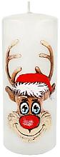 "Parfüm, Parfüméria, kozmetikum Dekoratív gyertya ""Rudolf"", fehér, 7x18 cm - Artman Christmas Candle Rudolf"