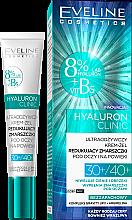 Parfüm, Parfüméria, kozmetikum Szemkörnyékápoló gél-krém - Eveline Cosmetics Hyaluron Clinic 30+/40+