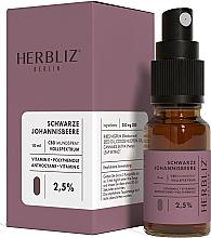 "Parfüm, Parfüméria, kozmetikum Olajos szájüreg spray ""Fekete ribizli"" 2,5% - Herbliz CBD Oil Mouth Spray 2,5%"