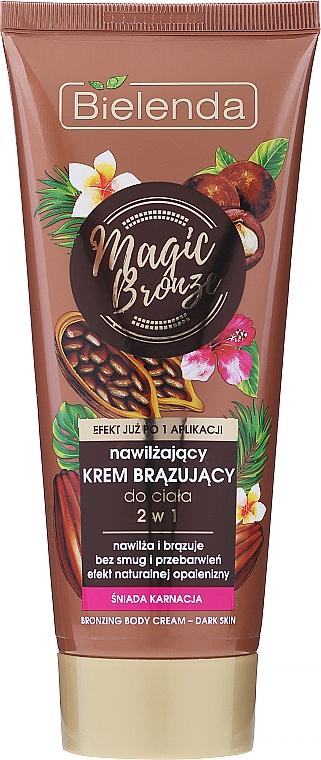 Bronzosító hidratáló testápoló krém - Bielenda Magic Bronze 2in1 Moisturizing Bronze Cream For Dark Skin