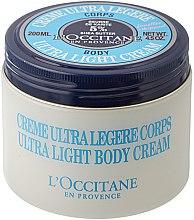 Parfüm, Parfüméria, kozmetikum Testápoló krém élénkítő hatással - L'occitane Shea Butter Ultra Light Body Cream