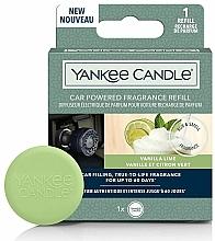 Parfüm, Parfüméria, kozmetikum Autós aromadiffuzór - Yankee Candle Car Powered Fragrance Refill Vanilla Lime (csere blokk)