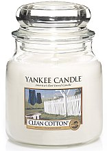 Parfüm, Parfüméria, kozmetikum Illatosított gyertya pohárban - Yankee Candle Clean Cotton