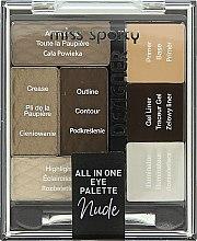 Parfüm, Parfüméria, kozmetikum Szemhéjfesték paletta - Miss Sporty Designer All In One Eye Palette