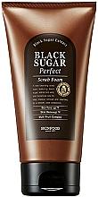 Parfüm, Parfüméria, kozmetikum Arctisztító és radír fekete cukor kivonattal - SkinFood Black Sugar Perfect Scrub Foam