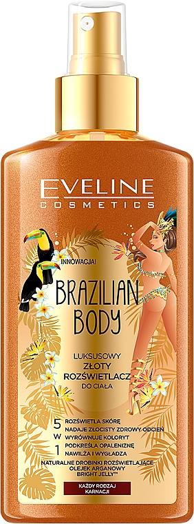 "Testpermet ""Arany bőr"" - Eveline Cosmetics Brazilian Body Luxury Golden Body"
