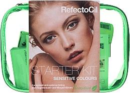 Parfüm, Parfüméria, kozmetikum Szemöldök- és szempillafestő szett - RefectoCil Lash & Brow Starter Sensitive Kit (dye/3x15ml + developer/gel/60ml + tint/remover/150ml + artist/palette + pads + folder)