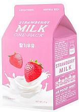 """Parfüm, Parfüméria, kozmetikum Szövetmaszk """"Eper"""" - A'Pieu Milk One-Pack Brightening Strawberry"""
