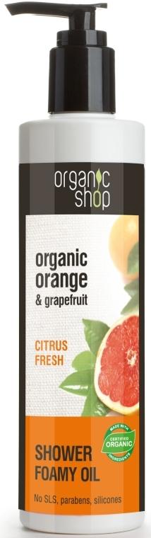 "Habzó fürdőolaj ""Citrus keverék"" - Organic shop Body Foam Oil Organic Orange and Grapefruit — fotó N1"