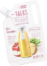 Parfüm, Parfüméria, kozmetikum Éjszakai hámlasztó maszk - Missha Talks Vegan Squeeze Pocket Sleeping Mask Skin Smoother