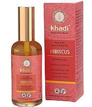 """Parfüm, Parfüméria, kozmetikum """"Hibiszkusz"""" arc- és testápoló olaj - Khadi"""