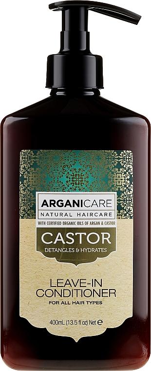 Öblítést nem igénylő hajnövelő kondicionáló - Arganicare Castor Oil Leave-in Conditioner