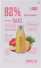 Parfüm, Parfüméria, kozmetikum Szövetmaszk - Missha Talks Vegan Squeeze Sheet Mask Skin Smoother