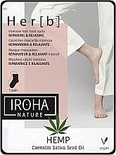 Parfüm, Parfüméria, kozmetikum Láb maszk - Iroha Nature HEMP Cannabis Foot Mask