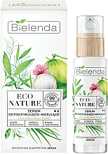 Parfüm, Parfüméria, kozmetikum Arcszérum - Bielenda Eco Nature Coconut Water Green Tea & Lemongrass Detox & Mattifyng Serum