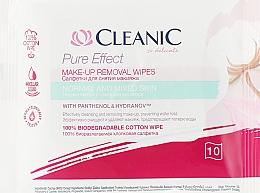 Parfüm, Parfüméria, kozmetikum Sminkeltávolító törlőkendő normál bőrre, 10 db - Cleanic Pure Effect Moisturizing