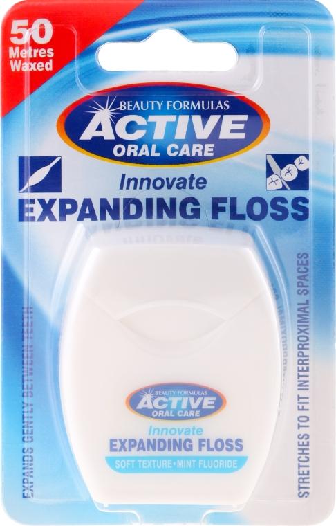 Lágy fogselyem mentával és fluoriddal - Beauty Formulas Active Oral Care Expanding Floss Mint With Fluor 50m