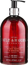 Parfüm, Parfüméria, kozmetikum Folyékony kézmosó szappan - Baylis & Harding Black Pepper & Ginseng Hand Wash
