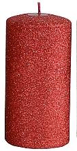 Parfüm, Parfüméria, kozmetikum Dekoratív gyertya, piros, 7x18 cm - Artman Glamour