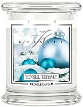 Parfüm, Parfüméria, kozmetikum Illatosított gyertya üvegben - Kringle Candle Tinsel Thyme