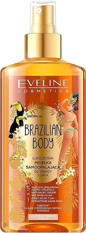 Önbarnító hatású testolaj - Eveline Cosmetics Brazilian Mist Face & Body
