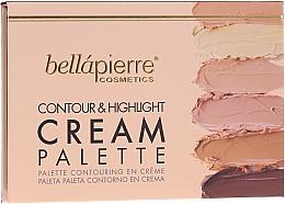 Parfüm, Parfüméria, kozmetikum Krémes arckontúr paletta - Bellapierre Cosmetics Contour & Highlight Cream Pelette