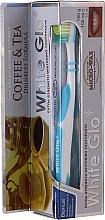 """Parfüm, Parfüméria, kozmetikum Szett """"A tea és a kávé kedvelőinek"""", kék és fehér kefe - White Glo Coffee & Tea Drinkers Formula Whitening Toothpaste (toothpaste/100ml + toothbrush)"""