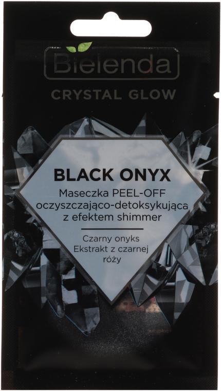 Tisztító detox-maszk arcra - Bielenda Crystal Glow Black Onyx Peel-off Mask