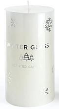 Parfüm, Parfüméria, kozmetikum Illatosított gyertya, fehér, 9x13 cm - Artman Winter Glass